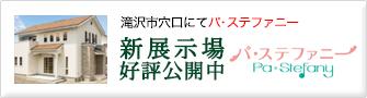 滝沢市穴口にてパ・ステファニー展示場公開中