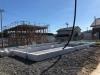 布基礎にコンクリートの打設をしています。